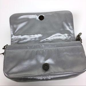 aac8d4f36c Guess Bags - Guess Metallic Silver Mini Bag Purse Chain Zippers
